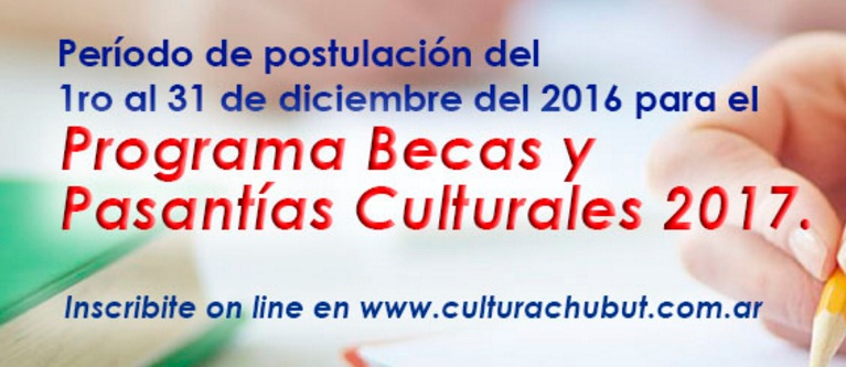 Inscripción para Becas y Pasantías Culturales 2017