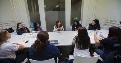 Cristina Kirchner se reunió con trabajadoras de PepsiCo