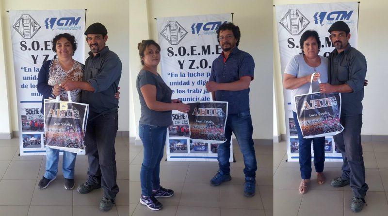 SOEME y ZO entrego kits escolares a sus afiliados de la Municipalidad de Trevelin