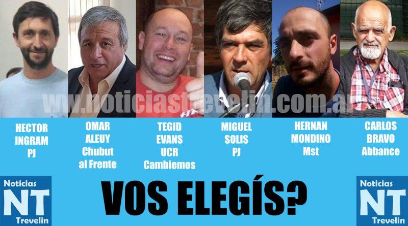ENCUESTA: A quien elegirías como intendente de Trevelin?