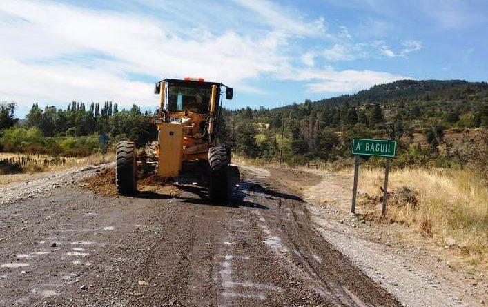 Se encuentra interrumpido de tránsito en la RN259 tramo Trevelin-Chile por colocación de alcantarilla