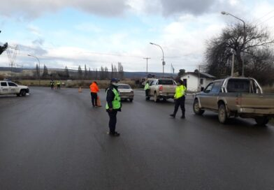 Controles de tránsito informativos en Trevelin
