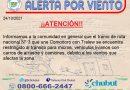 Chubut realizan intervenciones ante el temporal de ráfagas que azota a la provincia